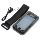 Protective Sports Waterproof IPX8 Case w/ Arm Band + Strap for IPHONE 5 / 5S - Black