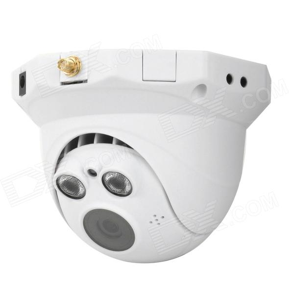 RATINGSECU R-H241 1.0MP CMOS Wireless HD IP Camera w/ Wi-Fi / TF / 2-IR LED Night Vision - White
