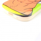 Hot Muscle Man Pattern Protective TPU Back Case for Samsung Galaxy SIII mini i8190 - White + Brown