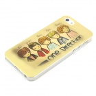 Cartoon One Direction mønster plast sak for iPhone 5 / 5S - Gul + Grey