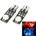 Marsing T10 18-Mode 7-Color RGB 6W LED Car Daytime Running Lamp / Clearance Light (2 PCS)