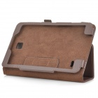 "Protective Flip Open PU Case w/ Stand for 8"" Samsung Tab 4 T330 - Brown"