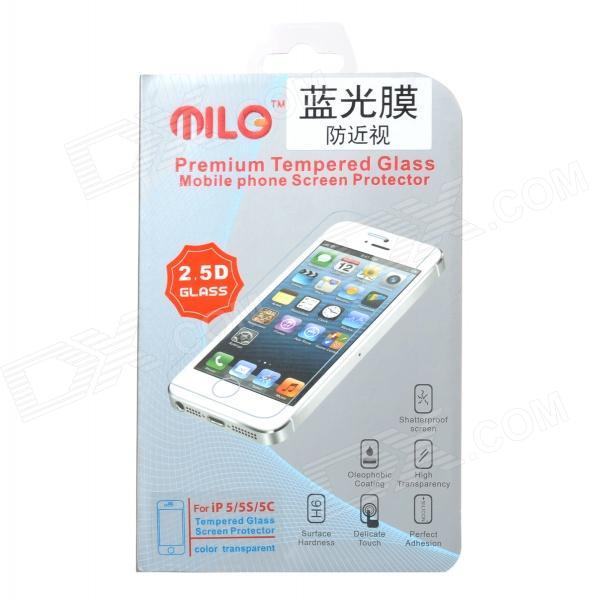 Protective 0.3mm 9H Tempered Glass Eye Protection Screen Guard for IPHONE 5 / 5S / 5C - Transparent