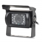 Water-Resistant-Rear-View-Parking-CCD-Camera-w-18-LED-IR-Night-Vision-for-Bus-Truck-Black