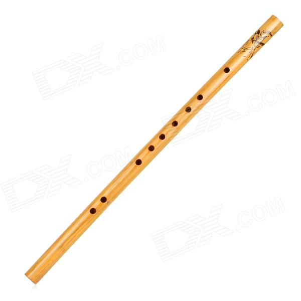 Buy SX001 Traditional Handcrafted Bamboo Flute - Yellowish Brown with Litecoins with Free Shipping on Gipsybee.com