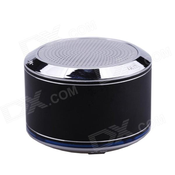 Brilink BS1001 Portable Rechargeable Bluetooth V2.1 + EDR Speaker w/ Mic - Black + Silver