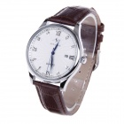 SPEATAC SP9046G Men's Stainless Steel Band Analog Quartz Wrist Watch w/ Calendar - Coffee (1xLR626)