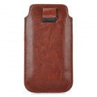 BLUESTAR Stylish Protective PU Pouch Bag w/ Card Slot for IPHONE 5S / 5 / 5C / 4S / 4 - Brown
