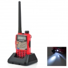 BAOFENG-UV-5RA-15-LCD-5W-Dual-Band-128-CH-Walkie-Talkie-w-1-LED-Flashlight-Red