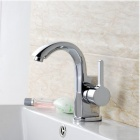 Contemporary-Brass-Unique-Chrome-Finish-Bathroom-Sink-Faucet-Silver
