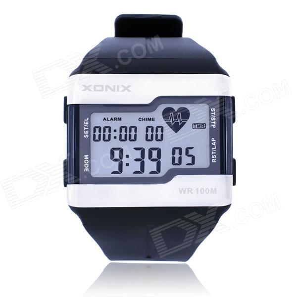XONIX HRM1 Water Resistant Digital Wrist Watch / Finger-Touch Heart Rate Monitor - Dark Blue
