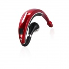 B.O.W H8800 Rechargeable Bluetooth V3.0 Mini Earhook Headset w/ Microphone - Black + Red