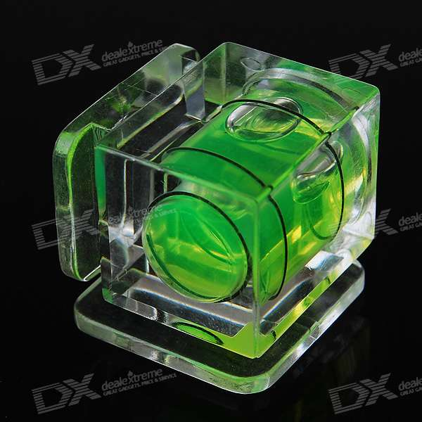 Hot Shoe Double Axis Bubble Spirit Level for DSLR / SLR Camera - Green