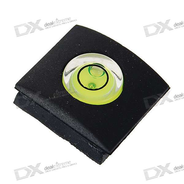 Resin Hot Shoe Bubble Spirit Level for DSLR / SLR Cameras - Black