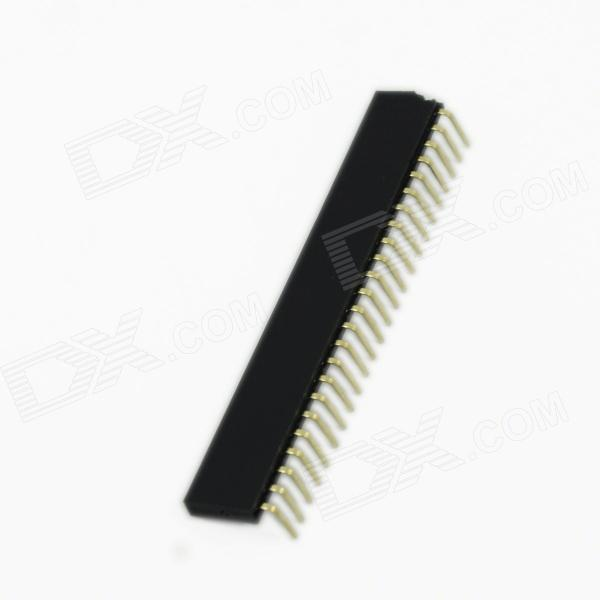 Connettori di intestazione 2,54 mm 24 Pin Pin femmina rame - nero (5 pz)