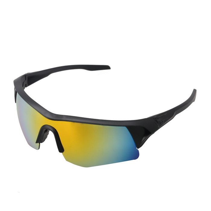 1018 Outdoor Sports Windproof UV400 Protection PC Sunglasses - Black + Red REVO