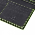 Fashion PU Long Wallet for Men - Black + Green