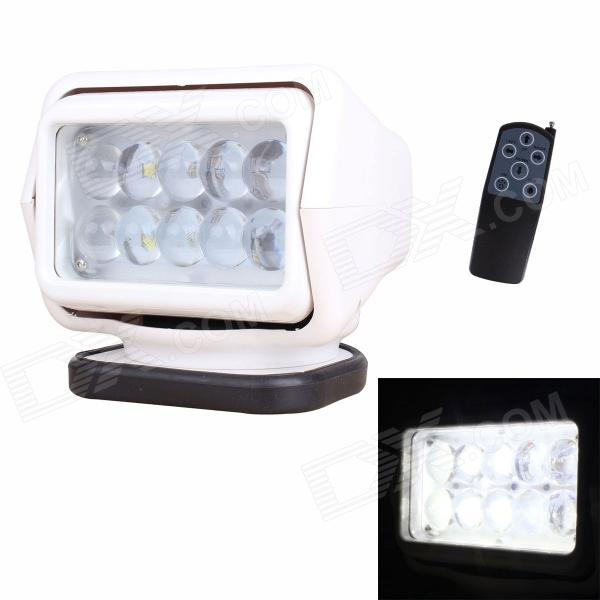 Buy MZ New 50W 4000LM LED 360' Rotating Remote Control White Spotlight Searchlight for Boat / Car (12V) with Litecoins with Free Shipping on Gipsybee.com