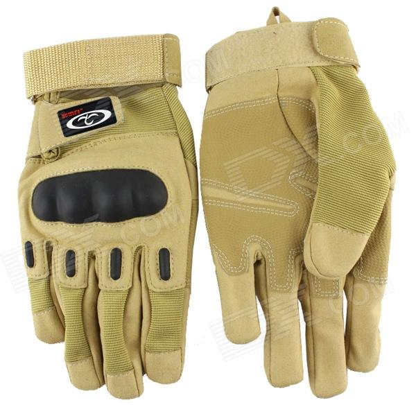 OUMILY Outdoor Tactical Full-Finger Gloves - Khaki (Size XL / Pair)