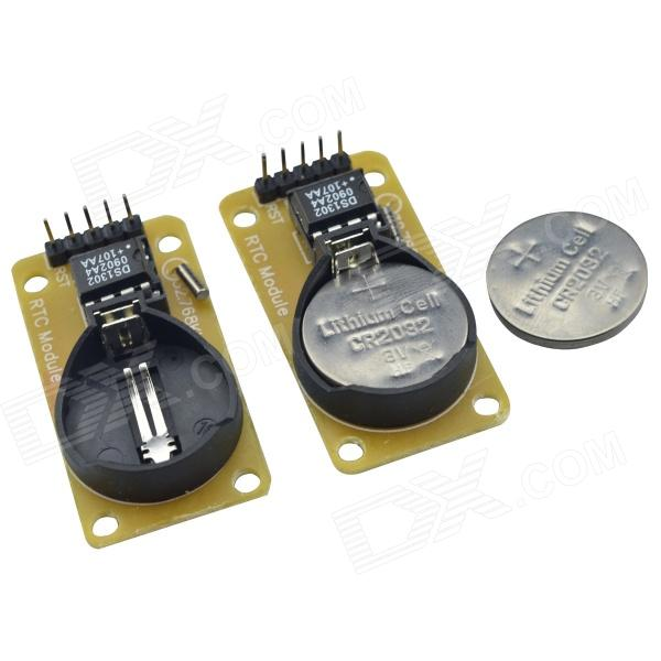 DMDG DS02 RTC 3.3 / 5.5V High Precision Real-Time Clock Module for Arduino (2 PCS)
