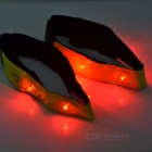 Reflective Night-time Safety Red 4-LED Wrist Strips - Green (Pair)