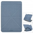 Flip Open Auto Sleep Matte Frosted Protective TPU Case w/ Folding Stand for IPAD Mini 2 - Dark Grey
