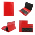 EPGATE Wireless Bluetooth V3.0 Keyboard + Protective PU Leather Case for Samsung P600 / T520 - Red