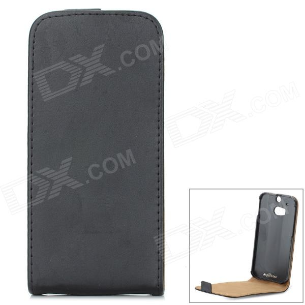 Protective Top Flip Open PU Case for HTC ONE2 / M8 - BlackLeather Cases<br>Form ColorBlackBrandN/AModelN/AMaterialPUQuantity1 DX.PCM.Model.AttributeModel.UnitShade Of ColorBlackCompatible ModelsHTC ONE2 / M8Packing List1 x Case<br>