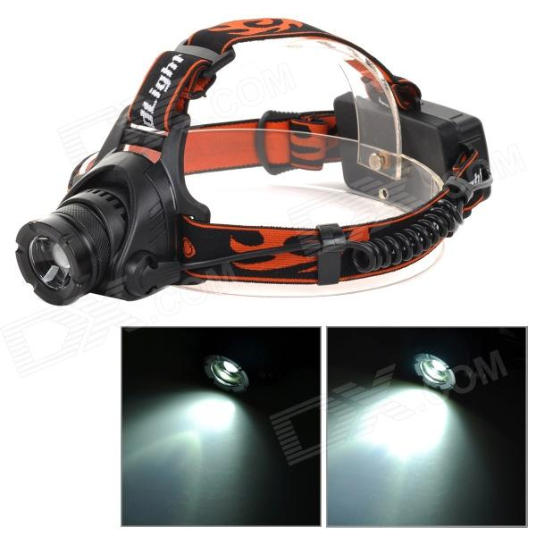 M11 LED 400lm 3-Mode Cool White Adjustable Zooming Focus Headlamp - Black + Red (2 x 18650)