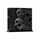 Grey Skulls Pattern Host Stickers + Handle Stickers Set for PS4