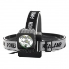 T03 500lm 3-Mode LED Cool White Front Bicycle Bike Light / Headlamp - Black (4 x 18650)