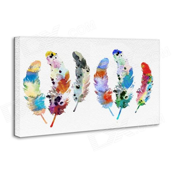 Iarts DX0613-04 Hand Painted Canvas Water Color Federn Ölgemälde - Bunt