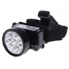 KangMing KM-166 Rechargeable 9-LED 120lm 2-Mode White Light Headlamp - Black