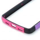 Protective TPU + PC Bumper Frame for LG Nexus 5 - Pink + Black + Purple