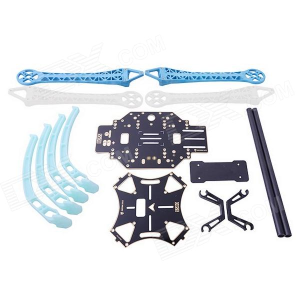FPV S500-GF SK500 4-Axis Carbon Fiber Quadcopter Repair and Replacement Rack for GoPro Hero 3Other Accessories for R/C Toys<br>Form  ColorWhite + Blue + Multi-ColoredBrandN/AModelS500-GF SK500MaterialCarbon FiberQuantity1 DX.PCM.Model.AttributeModel.UnitCompatible ModelGoPro 3Other FeaturesMakes the aircraft fly more steadily; Strong and light weight; Suitable for carrying GoPro Hero 3 gimbal; Wheel base: 500mm; Weight: 405g (gimbal and packing box weight is not included); Suggest to use motor: 2212, kv980, 2216, kv880, kv900, 3108, 900kv; Suggest to use propeller: 1045 / 1047 / 1147 / 1245; Suggest to use battery: 3s-4s, 2200mah-5200mah.Packing List1 x Rack 1 x Set of GoPro 2-axis cardan joint<br>