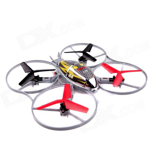 Syma X4A 2.4G 360' Flip 4-CH 4-Axis Helicopter Rotor IR R/C Aircraft Toy - Grey + Red