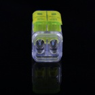 2-to-2 Free Skinned Electric Wire Cable Quick Joint / Connector - Yellow + Blue + Transparent (5PCS)