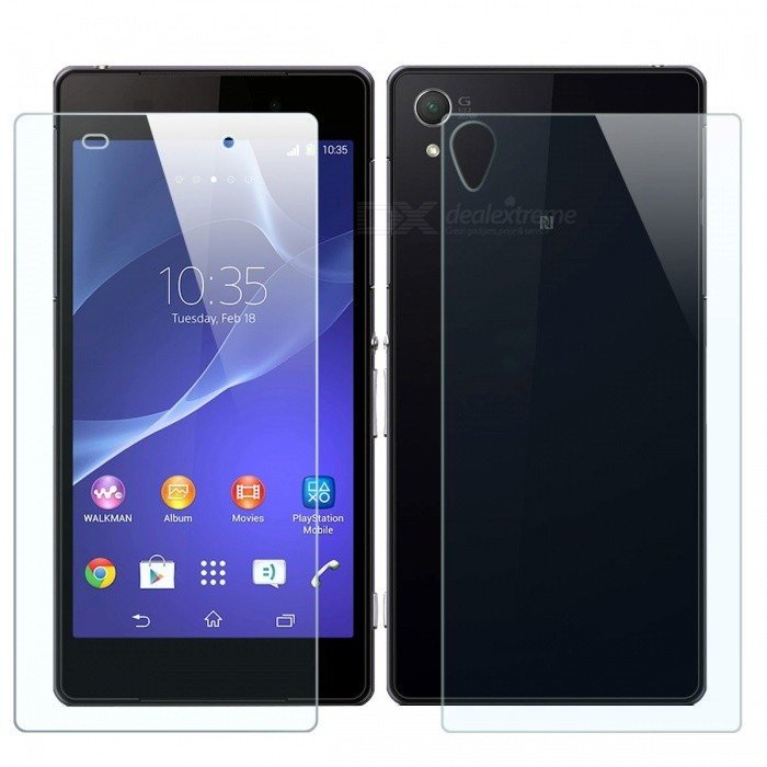 Mr.northjoe Front+Back Tempered Glass Films for Xperia Z2 -Transparent