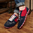Shang-Jin Men's Stylish Skateboard Canvas Shoes - Red + Blue + White (EU Size 44)