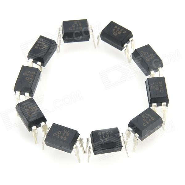 EL817 Iron + Plastic Optical Couplers / Optocouplers - Black (10 PCS)