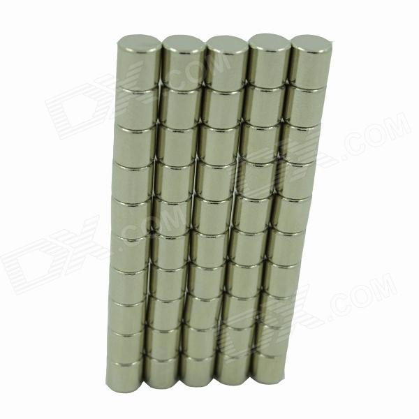 DIY Intelligence Développer 6 x 6mm Tubulate NdFeB Magnet - Argent (50PCS)