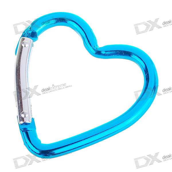 Aluminum Alloy Heart Shaped Carabiner Clip (Assorted Color)