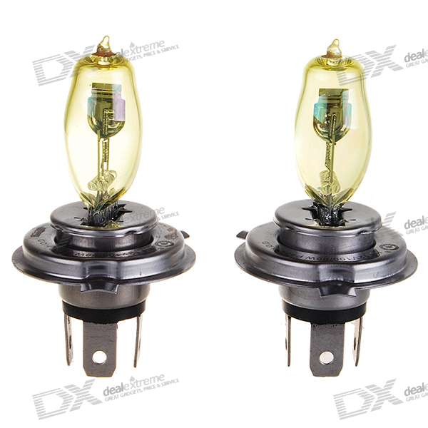 HOD H4 90~100W Yellow Car Light Bulbs (2-Pack/DV 12V)