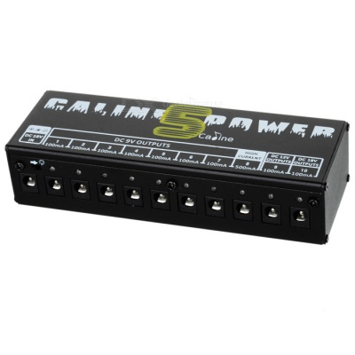 Caline CP-05 Multi-functional Power Supply Adapter for Guitar Effect Pedals - Black (EU Plug)