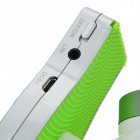 HMG6813 Golf Style Bluetooth V3.0 + EDR Rechargeable Wireless Speaker w/ Mic. / TF - White + Green