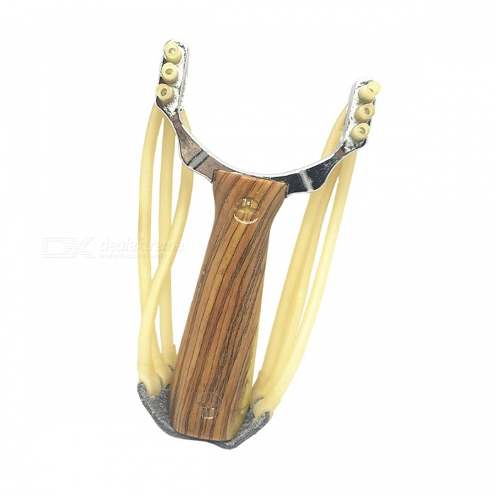 Buy Zinc Alloy Metal Immitating Padauk Handle Slingshot Toy - Reddish Brown + Silver with Litecoins with Free Shipping on Gipsybee.com