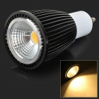 GU10 9W 280lm 3000K COB LED chaud Spotlight White Light - Noir (CA 85 ~ 265V)
