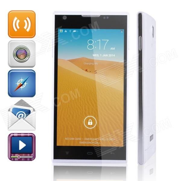 "K4 Quad-Core Android 4.2.2 WCDMA Bar Phone w/ 5.0"" QHD, Wi-Fi and GPS - White"