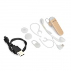 ORiCRE Q3 Bluetooth V4.0 Earhook Headset w/ Microphone - Golden