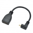 CHEERLINK CL011 Micro HDMI Male to HDMI V1.4 Female Cable - Black (16.2cm)